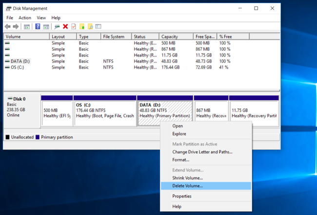 Properly Delete Extra Partitions on USB Drive using DiskPart