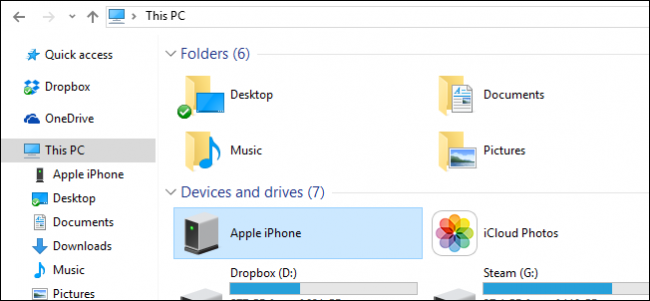 Trying to import pictures from I phone 7 to laptop - HP
