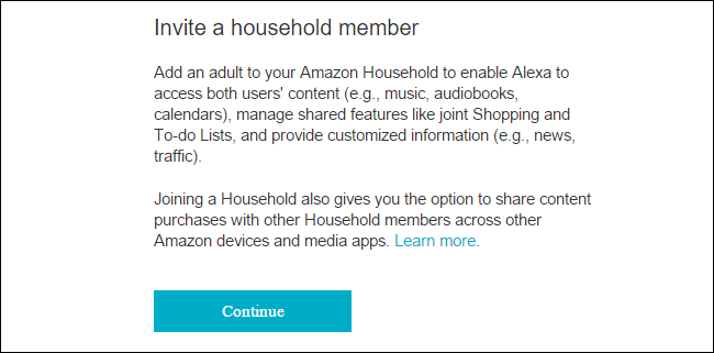 How to invite a household member to share your amazon echo to get started navigate to the menu by tapping the menu button on the amazon alexa app or simply loading the echoazon portal solutioingenieria Choice Image