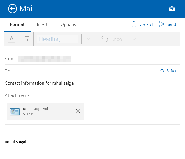 outlook how to add contacts