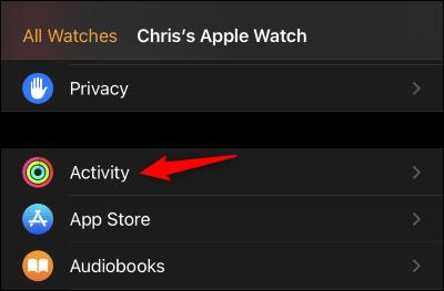 "Tap ""Activity"""