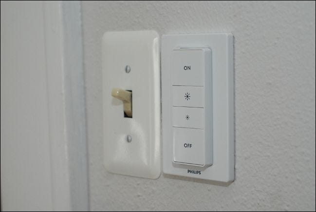 how to control your philips hue lights with the hue dimmer switch. Black Bedroom Furniture Sets. Home Design Ideas