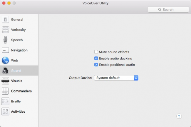 how to close voiceover utility mac