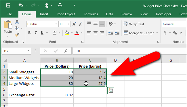 how to make a list of numbers on excel