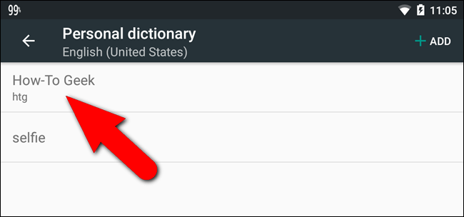How to Add a Word or Phrase to Android's Autocorrect Dictionary