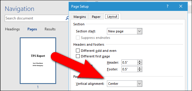Access Text Vertical Alignment : How to center text vertically on the page in microsoft word