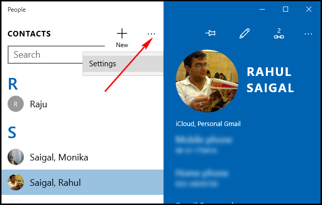 How to add contacts from gmail, outlook, and more to windows 10's.