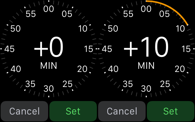 set a time for 10 minutes