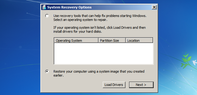 Missing repair your computer option 01