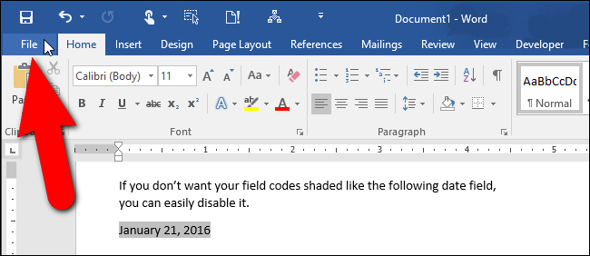 How to create a form field in word 2020