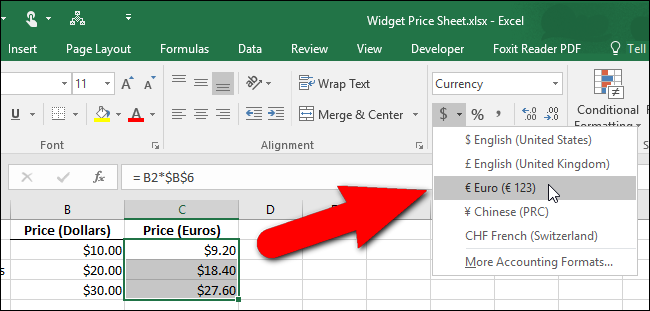 How To Change The Currency Symbol For Certain Cells In Excel