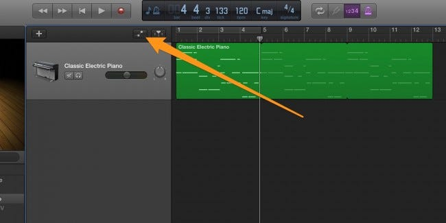how to change the speed of a loop garageband