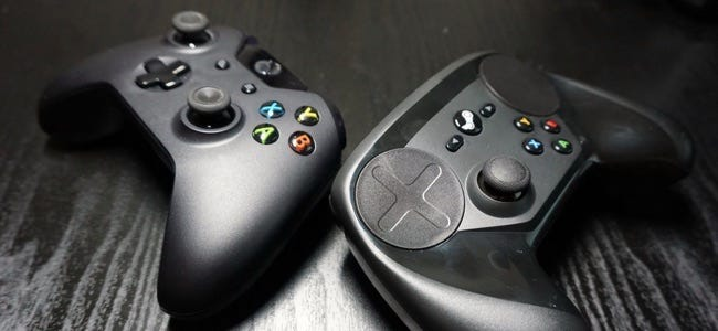 steam and xbox controllers