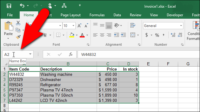 How To Assign A Name Range Of Cells In Excel. Type A Name For The Range Of Cells In Box And Press Enter Exle We Called Selected On Our Product Database Worksheet Products. Worksheet. Worksheet Range Excel C At Mspartners.co