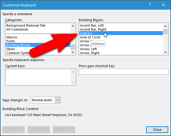 How to Add Shortcut Keys to AutoText Entries in Word - Tips