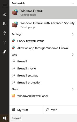 Firewall Start
