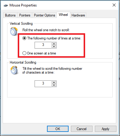 how to change the direction of your scroll on windows