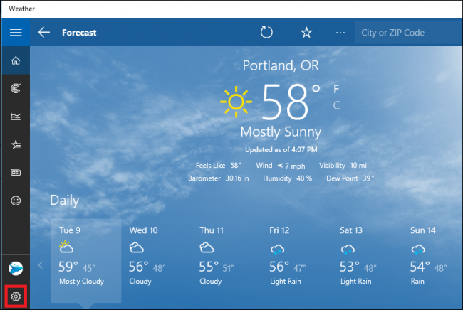 How to Configure the Windows 10 Weather App