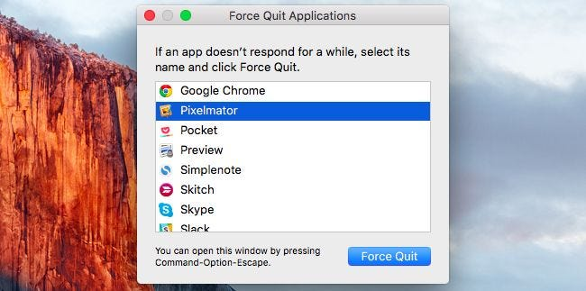 What's the Equivalent of Ctrl+Alt+Delete on a Mac?
