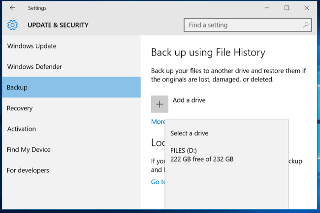 How To Use Windows File History To Back Up Your Data