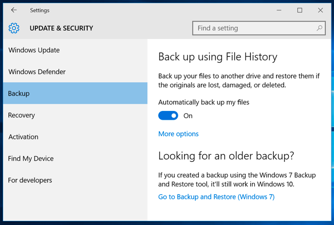 How to Use Windows' File History to Back Up Your Data