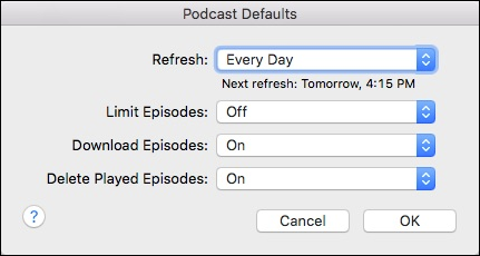How to Save Space on your Mac or iPhone by Limiting Podcast Downloads