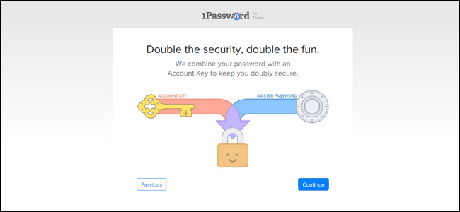 how to set up 1password
