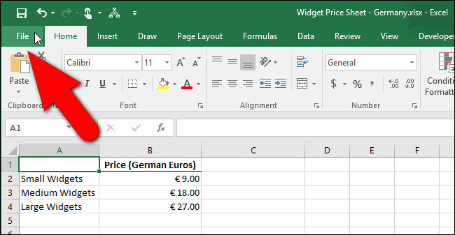 How to Change Excel's Decimal Separators from Periods to Commas