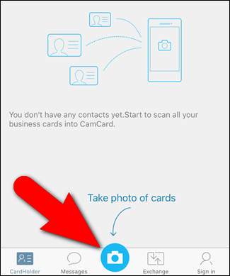 How to scan business cards into your iphones contact list 02tappingcameraicon colourmoves