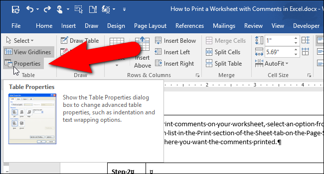 How to Nest a Table Within a Table in Word