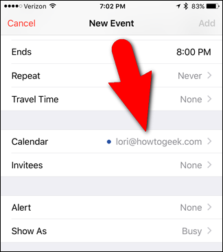 default calendar iphone how to set the default calendar for new appointments in 10487