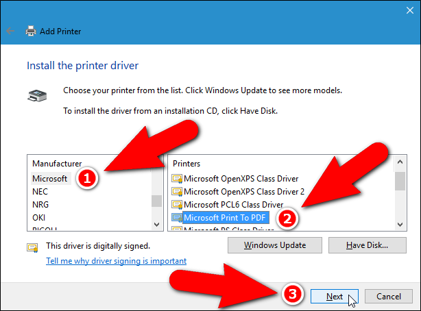 microsoft pdf printer windows 7