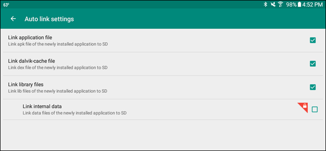 how to set sd card as default android