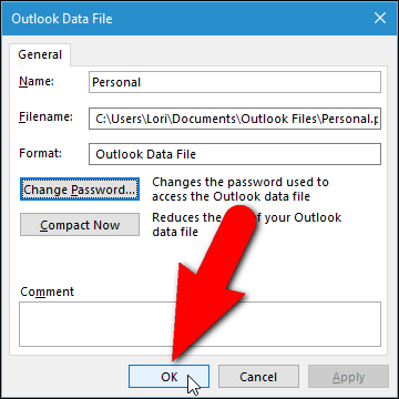How to Set a Password on Your Outlook Data File ilicomm Technology Solutions