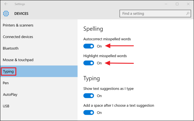 How To Disable Autocorrect in Windows 10