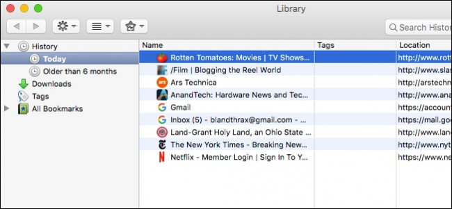 how to view history on mac firefox