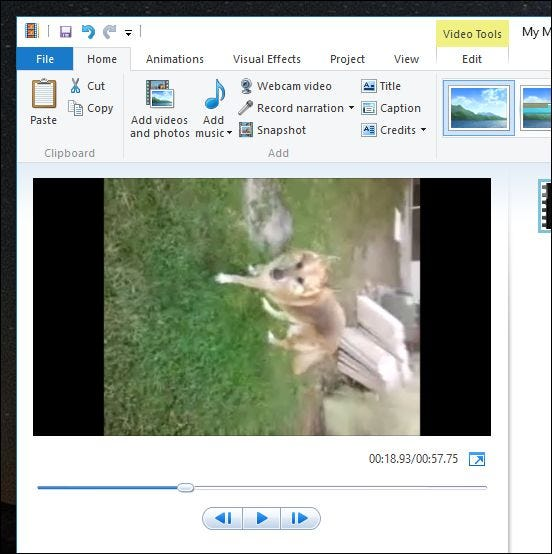 rotate windows media player view