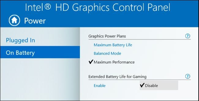 intel hd graphics 4000 settings for gaming