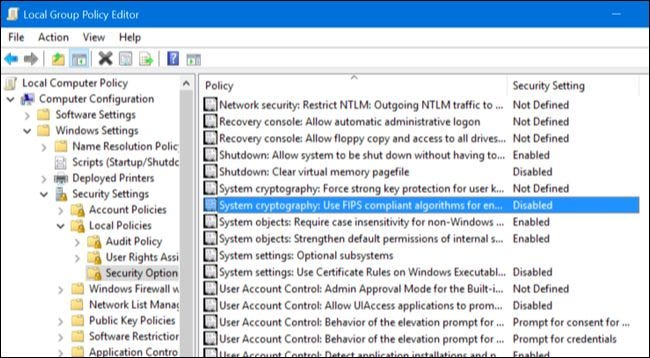 """Why You Shouldn't Enable """"FIPS-compliant"""" Encryption on Windows"""