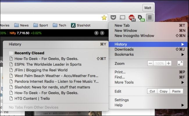 how to clear your history on google chrome