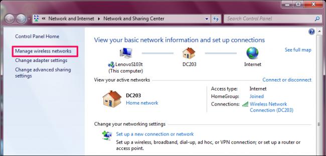 how to set my wifi password