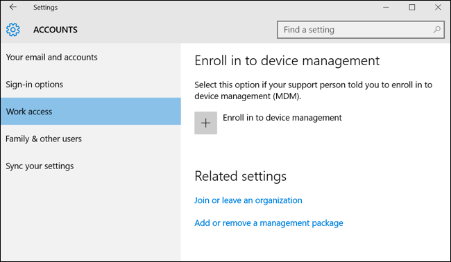 How to Add a Work or School Account to Windows with Work Access