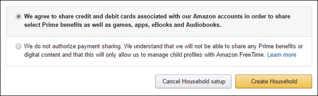 Amazon Prime Create Household