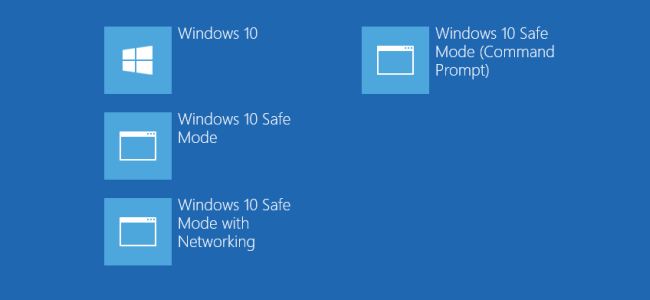how to add safe mode to the windows 8 and 10 boot menu