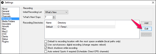 7-recording-directory