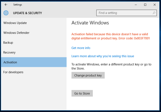 how to upgrade windows 10 to an activated version
