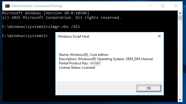 read windows 10 product key cmd