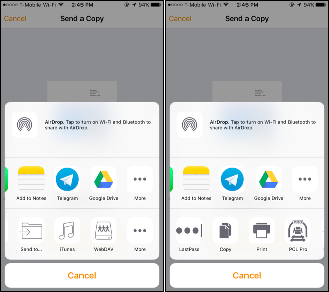 how to print to a google cloud printer from ios