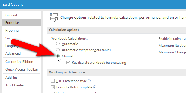 How to Manually Calculate Only the Active Worksheet in Excel