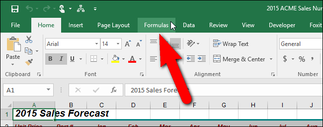 How to turn on automatic calculation in excel 2016